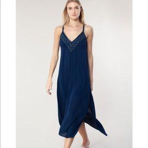 NWT Hale Bob milagros crinkle gauze maxi dress
